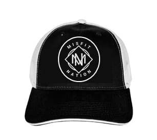Misfit Nation Trucker Cap Black and White